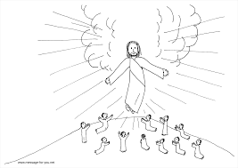 Jesus Ascension Coloring Page Trend 22 With Additional Picture