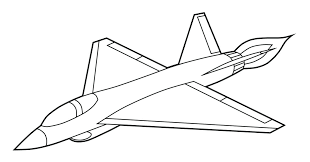 Airplane Color Page Printable Coloring Pages Free Jet Fighter Military Plane Full Size
