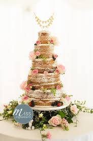 Naked Wedding Cake By Miss Ingredient And Flowers Supplied Simply Flower