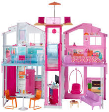 Barbie Living Room Playset by Barbie Pink Passport 3 Story Townhouse Toys