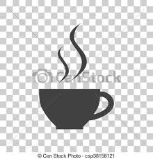 Cup Of Coffee Sign Dark Gray Icon On Transparent Background