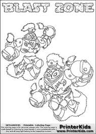 Printable Or Online Colorable Skylanders Swap Force Coloring Page With Two Variants Of The Original