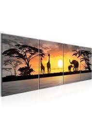 bilder set mehrteilig afrika sonnenuntergang wandbilder