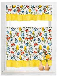 Amazon Yellow Kitchen Curtains by Stunning Lemons White Floral Restaurant Kitchen Cafe Curtain Panel