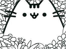 Coloring Pages Pusheen Best Of Kawaii Printable Gallery