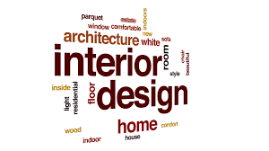 Interior Design Animated Word Cloud Text Animation Motion Background