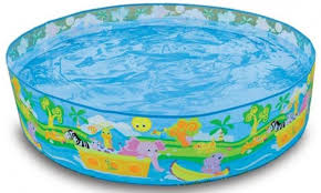 Inflatable Bathtub For Adults Online India by Intex Snapset 4 Feet Kids Water Pool Bath Tub Swimming Pool