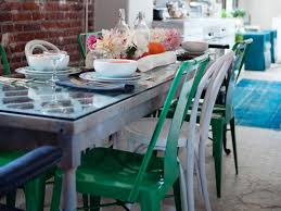 Upcycled Dining Table With Mismatched Chairs