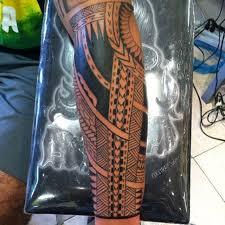 Forearm Shield Tattoo Polynesiantattoo Polynesian Maui Cali Newporttattoo Hawaii