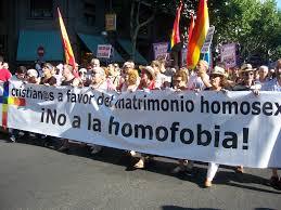 Manifestación a favor de los matrimonios homosexuales
