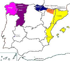 Ámbitos de influencia del gallego, vasco y catalán