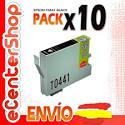 10 Cartuchos De Tinta Negra T0441 Non-oem Epson Stylus C84 Wifi